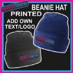 BEANIE HAT PERSONALISED WITH YOUR OWN LOGO/TEXT BUSINESS WORKWEAR